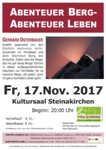 Plakat Abenteuer Berg