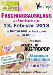 Plakat Fasching 2018