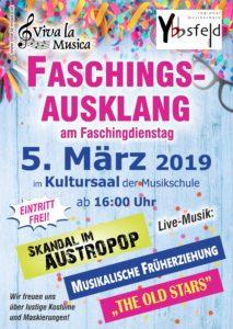 Plakat Fasching 2019